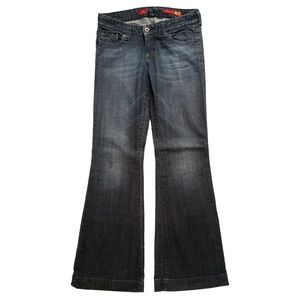 Express X2 Low Rise Distressed Flare Leg Jeans